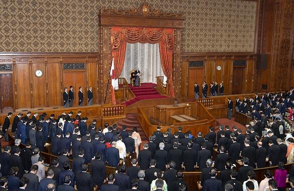 第198回国会開会式(平成31年1月...